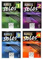Acoustic Pop Guitar Solos - Noten/Tabulatur - Bd. 1, 2, 3 oder 4 - mit CD + Plek