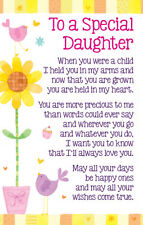 To A Special Daughter Heartwarmers Keepsake Credit Card & Envelope Gift