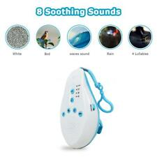 Baby Sleep Soothing Sound Machine White Noise 8 Sounds Record Voice Sensor