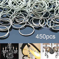 450pcs 12mm Silver Crystal Chandelier Bead Connector Circle Ring DIY Repair Part