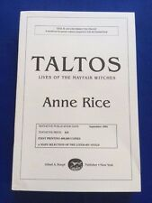 TALTOS - UNCORRECTED PROOF BY ANNE RICE