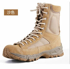 Fashion Mens Leather Tactical Boots Military Combat Army SWAT Boots Shoes Hiking