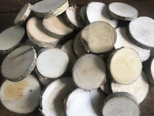 100 Rustic Natural Birch Wood Slices/Rounds/Craft - SECONDS