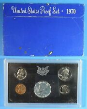 1970 US 5 Coin Proof Set with San Francisco Kennedy Half Dollar