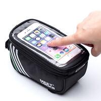 MEETLOCKS 5.7Inch Cycling Bike Frame Pannier Bag Mobile Phone Touch Screen Pouch