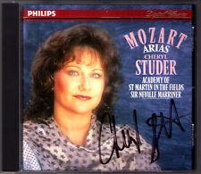 Cheryl STUDER Signed MOZART Figaro Die Zauberflöte Idomeneo Cosi fan MARRINER CD
