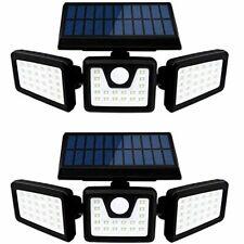 Otdair Solar Security Lights, 3 Head Motion Sensor Lights Adjustable 70LED Flood