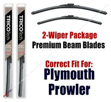 Wipers 2-Pack Premium Wiper Blades - fit 1997-2001 Plymouth Prowler - 19170/190