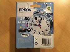 Epson Original 27XL Multipack 3 Farben Tintenpatronen Wecker Rechnung