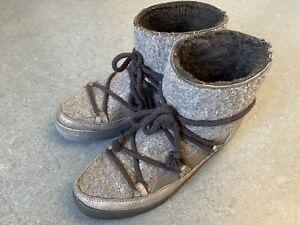 INUIKII Snowboots grau silberfarben Damen Gr. DE 38 Winter Stiefel Schuhe