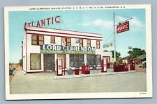 SUMMERTON SC GAS STATION LORD CLARENDON SERVICE VINTAGE POSTCARD