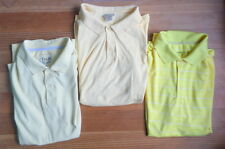 Yellow Golf Shirts Lot of 3 NIKE CHAPS LL BEAN Size XL Short Sleeve