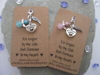 Pet Memorial Charm Gift Pet / Dog / Cat Loss Memory Box Keepsake - Heart & Angel