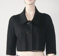 BEBE Button Black Cropped Coat Jacket size MEDIUM 8 NEW NWT $98