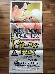 Original Daybill Poster 13x30: Pillow Talk (1959) Doris Day, Rock Hudson