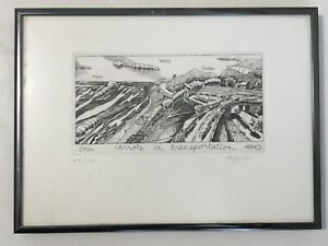 """Carrots in Transportation"" David Bigelow; Framed, Signed Etching 54/100 11""x8"""