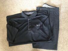 Mens Under Armour Golf Bundle Black Trouser, Polo Shirt and Belt