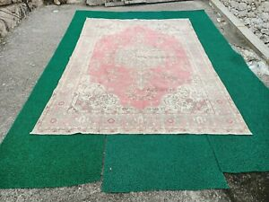 Handmade vintage turkisk rug,oushak rug,area kilim rug,floor rug,large rug
