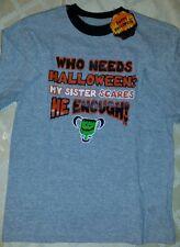 Boy's size M(8) NWT My Sister Scares Me Enough Shirt