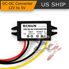 Waterproof DC-DC Converter 12V Step Down to 5V Power Supply Module 3A 15W BLACK