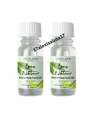 2 × Oriflame Love Nature Purifying Face Oil with Organic Tea Tree & Lime