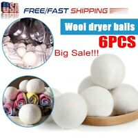 6cm Natural Reusable Laundry Ball Clean Pactical Home Wool Tumble Dryer Balls