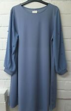 Womens Ladies New Pearl Sleeve Stretchy Round Neck Tunic Dress UK 12-18 6725