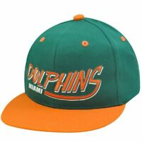NFL MIAMI DOLPHINS GREEN OLD SCHOOL SNAPBACK CAP HAT