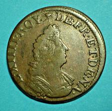 Louis XIV pièce¨ce de 4 Deniers 1698 BB rare
