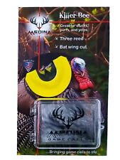 Medina Game Calls Killer Bee Three Reed Bat Wing Cut Turkey Mouth Call w/case