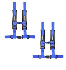 "PRP 4 Point 2"" Harness Seat Belt Pair Automotive Latch Blue RZR Maverick YXZ All"