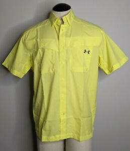 NEW Under Armour Tide Chaser Men's M Heat Gear UPF 30 Vented Fishing Shirt