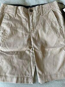NWT Volcom Youth Khaki Shorts Size 26 (12)