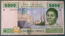 CENTRAL  AFRICAN STATES 5000 FRANCS NOTE FROM 2002,  LETTER A , GABON, P 409 A
