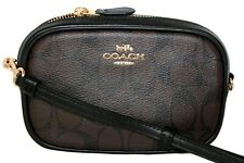 Coach Convertible Belt Bag Fanny Pack Crossbody Signature Brown Black F73951