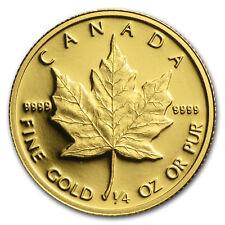1989 Canada 1/4 oz Proof Gold Maple Leaf
