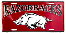 Arkansas Razorbacks License Plate Sign Made in the USA