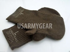US Army Military Old School OD Wool Trigger Finger Mitten Liners Sniper Gloves L