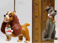 2 Disney Grolier Christmas Magic Ornament Lady and the Tramp