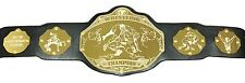 Wrestling Championship Belt - Add Your Own Text - Black/Gold