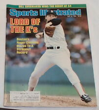 Roger Clemens Cover Lord of the K's Sports Illustrated Magazine May 12, 1986