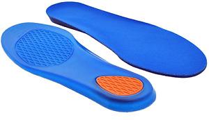 Comfort Shoe Insoles Gel Inserts Shock Absorbing Foot Pain Relief Arthritis UK