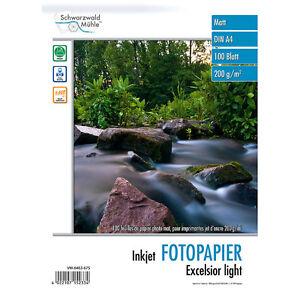 """Fotopapier Beidseitig: 100 Bl. Fotopapier """"Excelsior"""" matt 200g/m² A4"""