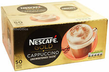 Nescafe Gold Unsweetend Taste Cappuccino 50 One Mug Sachets Capachino