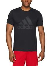 ADIDAS T-Shirt Mens NEW Black S/S Climalite Badge of Sport Bounce Logo Tee Top L
