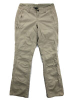 Kuhl Spire Roll Up Pants Womens 4 Nylon Khaki Hiking Camping Cargo Pants