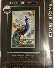 Dimensions Cross Stitch Kit Gold Collection 35339 - ROYAL PEACOCK 2016  HTF