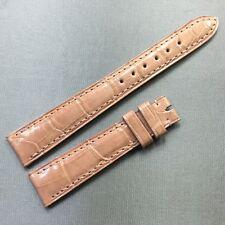Authentic Patek Philippe Shiny Peach Alligator Watch Strap Band 15 mm x 12 mm