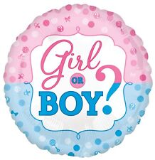 "18"" Girl or Boy Baby Shower Gender Reveal Foil Helium Balloon Party Decoration"