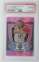 2019 Draft Picks Crusade Pink Pulsar Prizm Tyler Herro Rookie RC #75, PSA 10